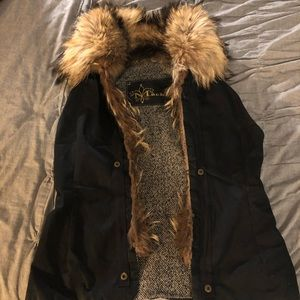Mackage Vest with Fur Collar